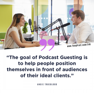 In a Weekend Podcast with Yong Pratt featuring Angie Trueblood